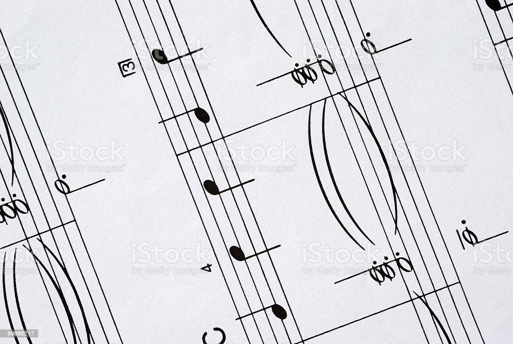 Sheet Music (detail) royalty-free stock photo