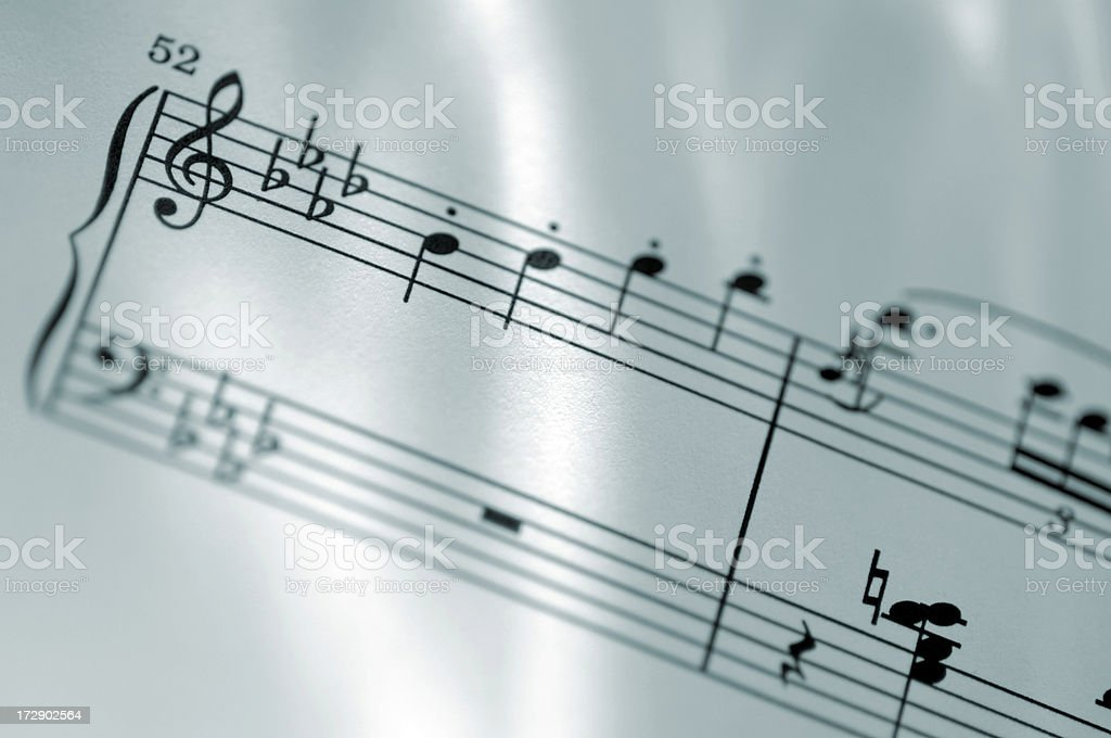 sheet music series royalty-free stock photo