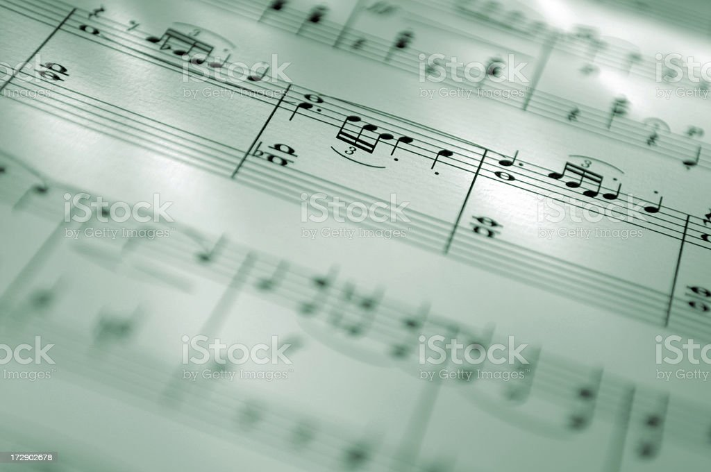 sheet music series stock photo