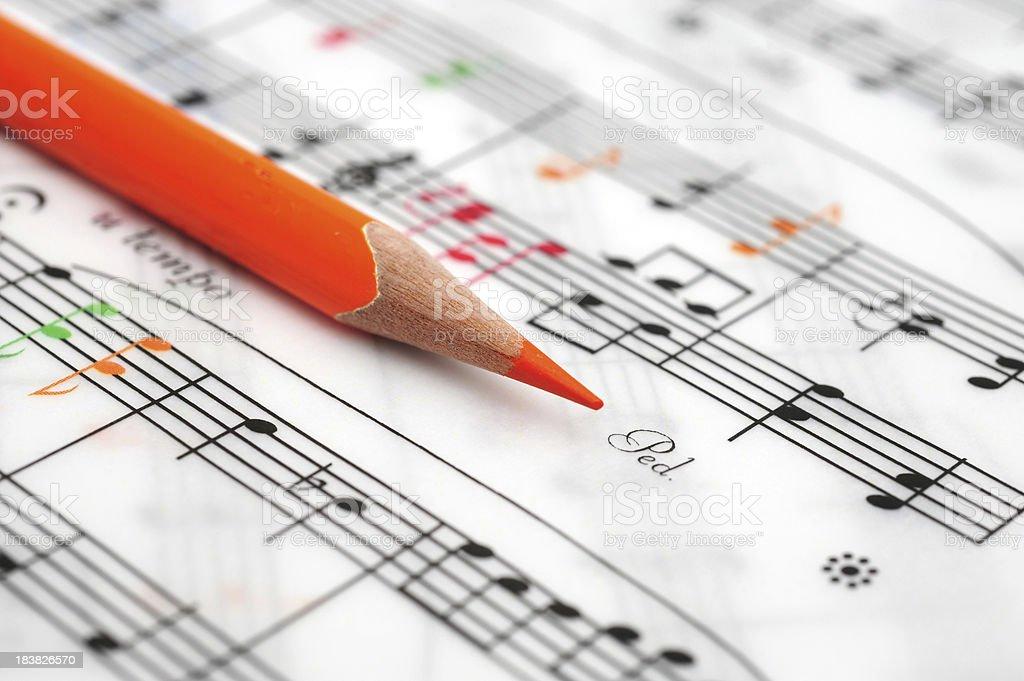 Sheet Music-Musical Note stock photo