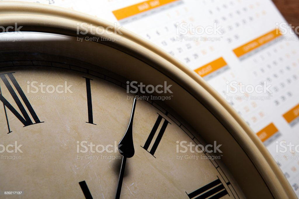 sheet of a calendar stock photo
