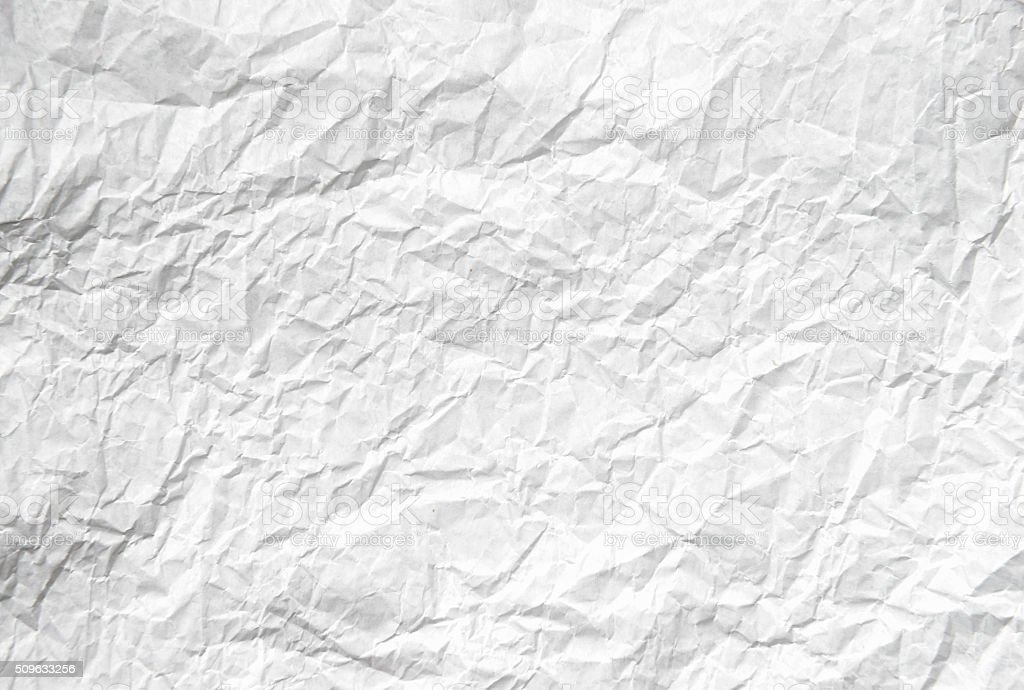 Sheet of crumpled paper stock photo