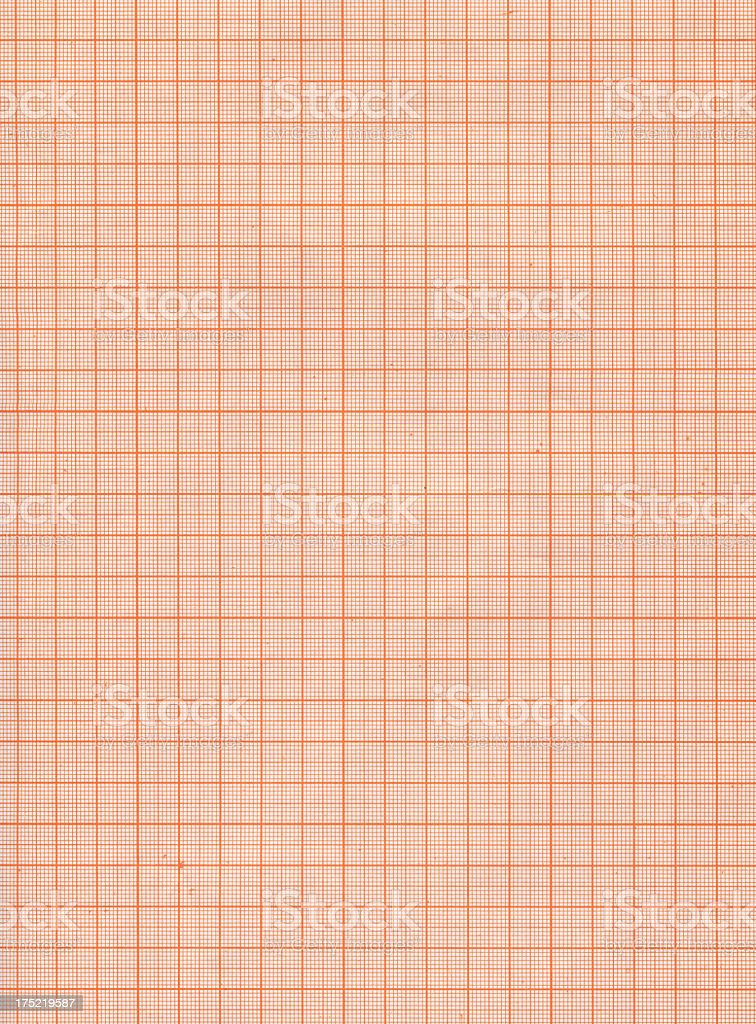 Sheet of Graph Paper stock photo