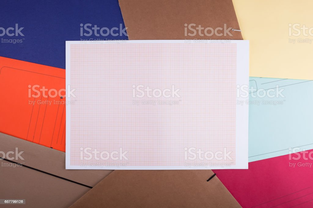 Sheet of graph paper. stock photo