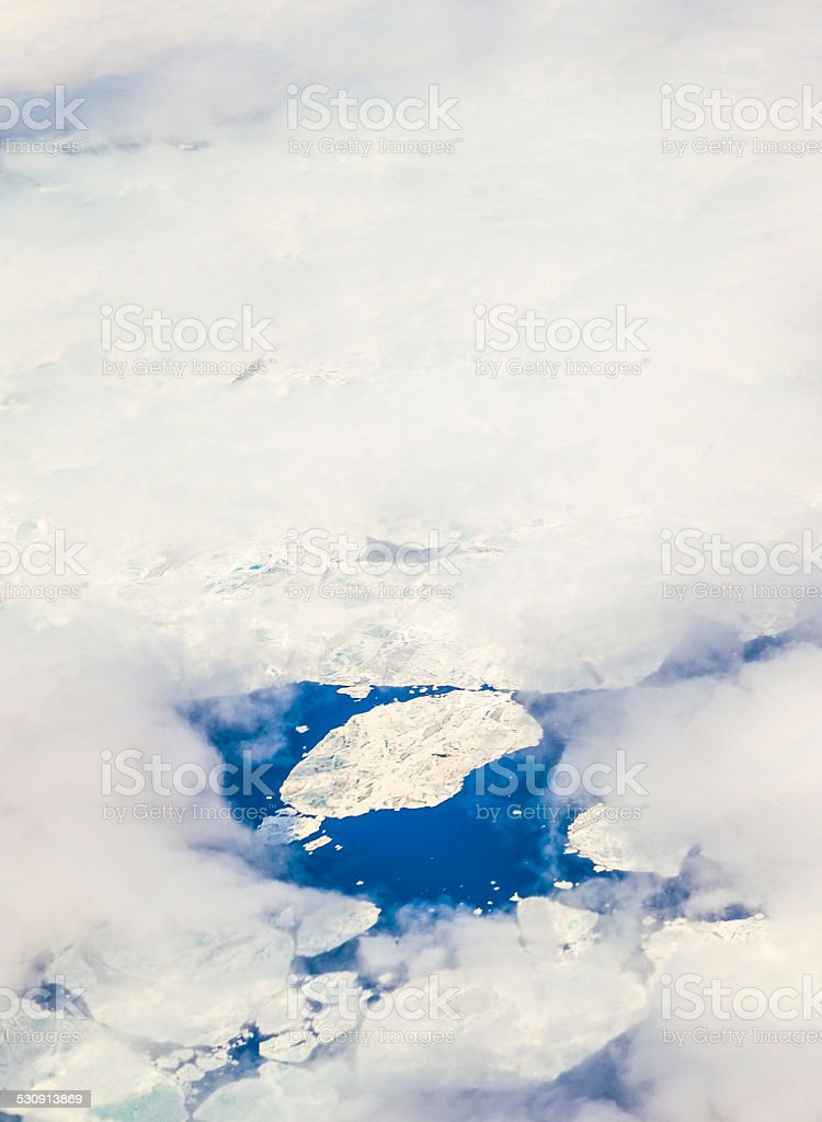 sheet of ice floating on the arctic ocean stock photo