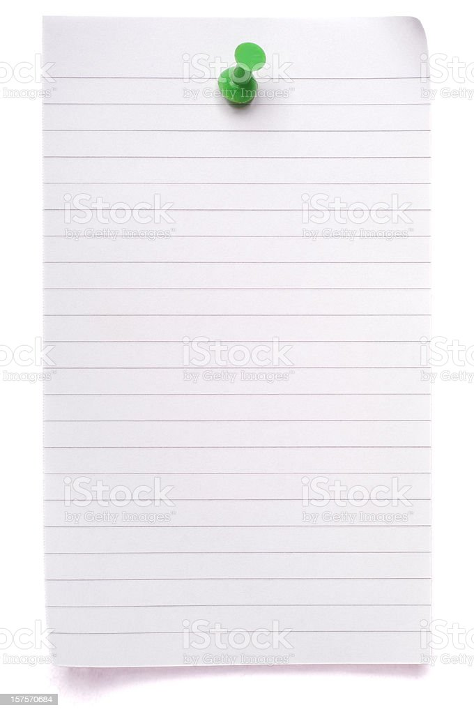 Sheet of lined blank note paper royalty-free stock photo