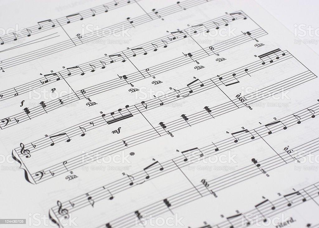Sheet of music 3 royalty-free stock photo