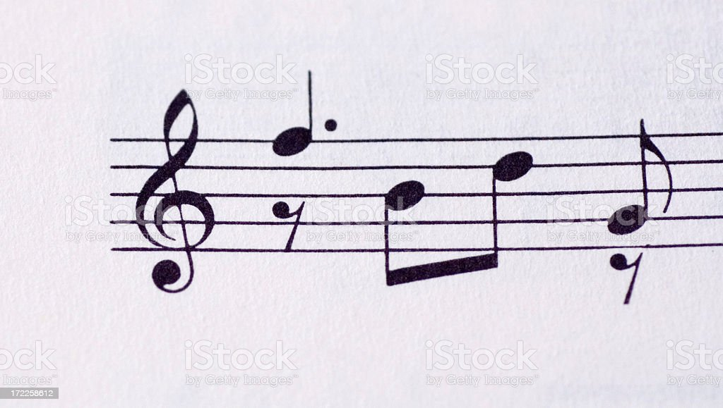 Sheet of Music royalty-free stock photo