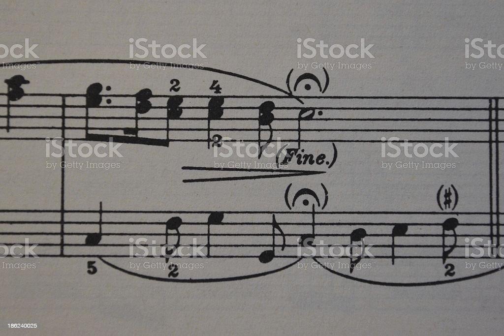 sheet of music royalty-free stock photo