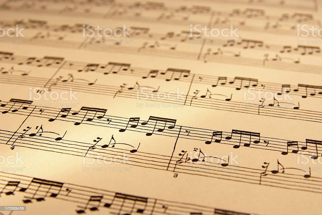 Sheet of musical symbol royalty-free stock photo