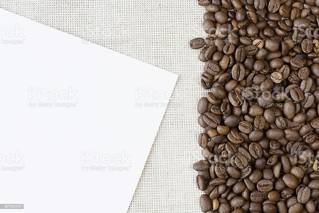 sheet of paper and coffee stock photo