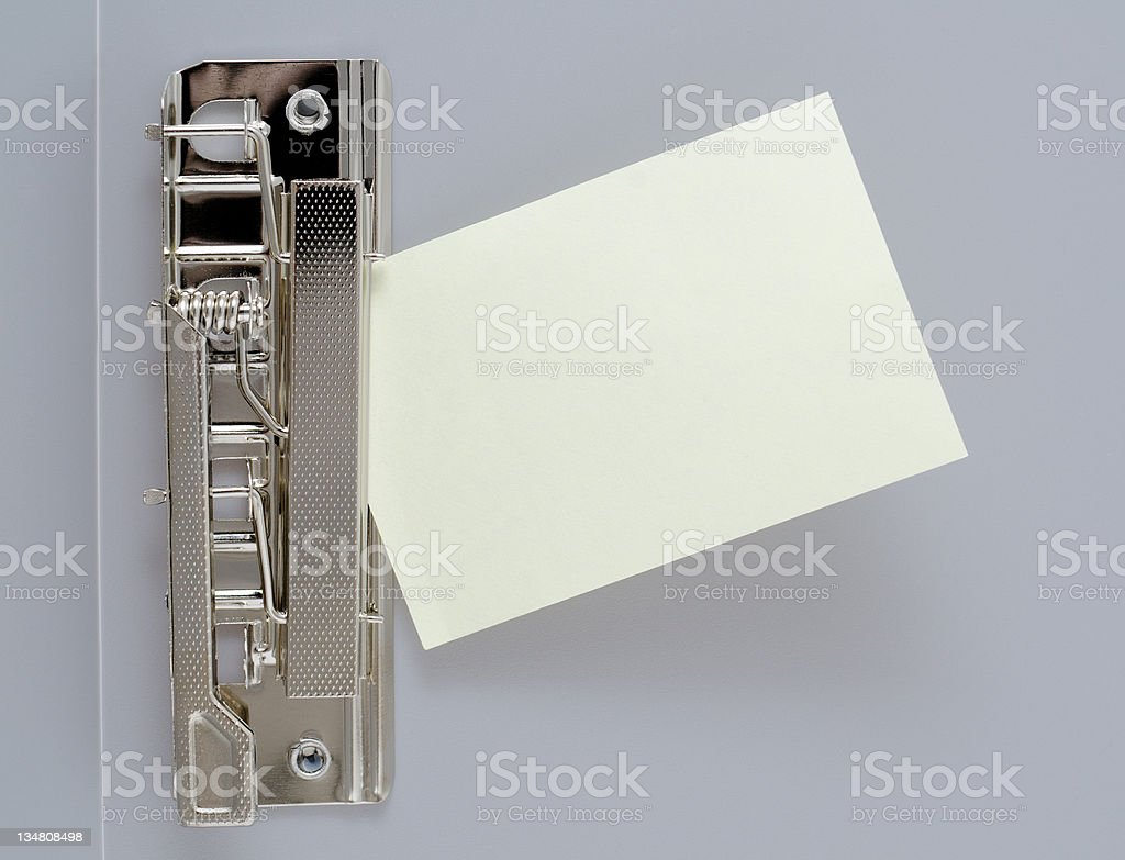 sheet of paper in clip file royalty-free stock photo