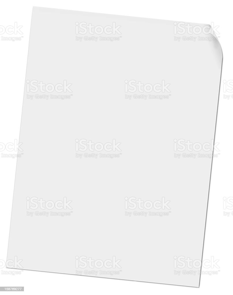 Sheet of paper stock photo