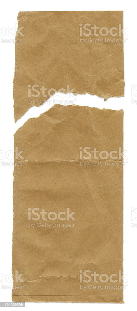Sheet of Paper Torn Note Pad royalty-free stock photo