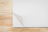 Sheet of paper with corner turned over