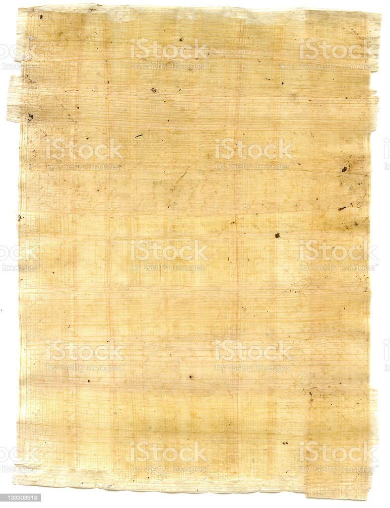 sheet of papyrus stock photo