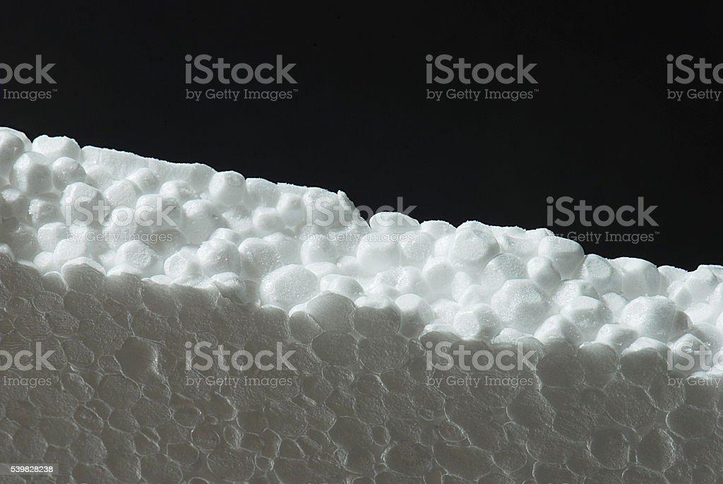 sheet of polystyrene sheet stock photo