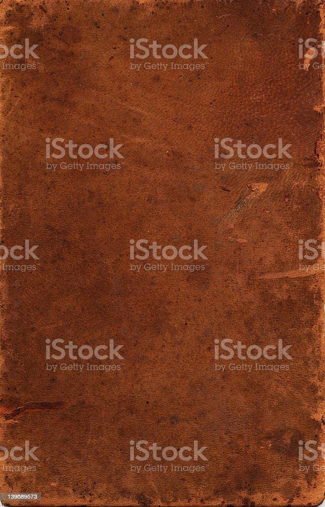 Sheet of vintage leather against black background stock photo