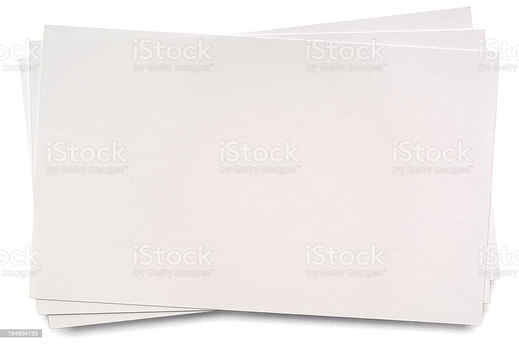 Sheet of white blank index card royalty-free stock photo