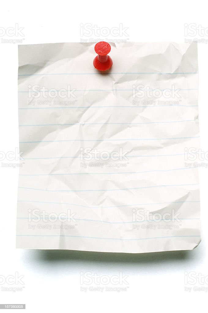 Sheet of whte note paper royalty-free stock photo