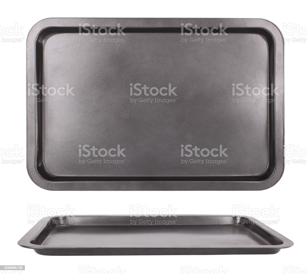 Sheet pan baking tray for oven stock photo