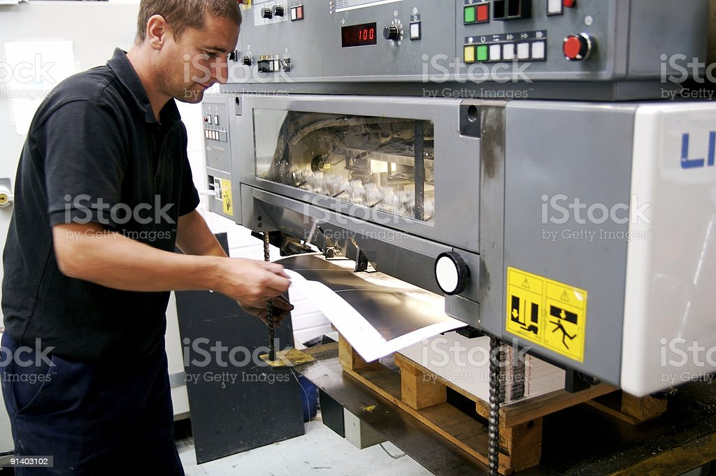 Sheet Pull... stock photo