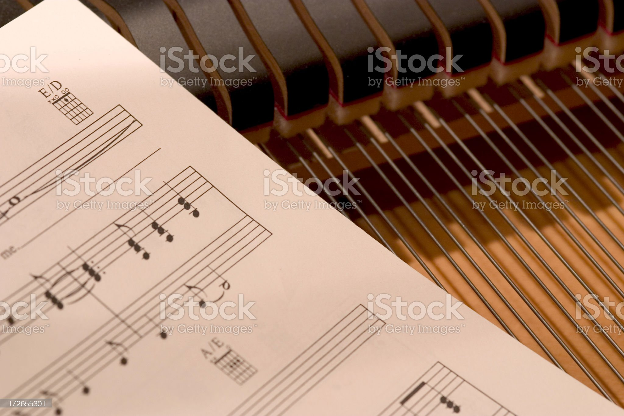 Sheets and strings royalty-free stock photo