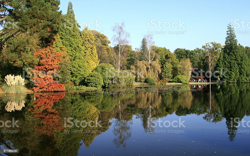 Sheffield Park Gardens in East Sussex, England royalty-free stock photo
