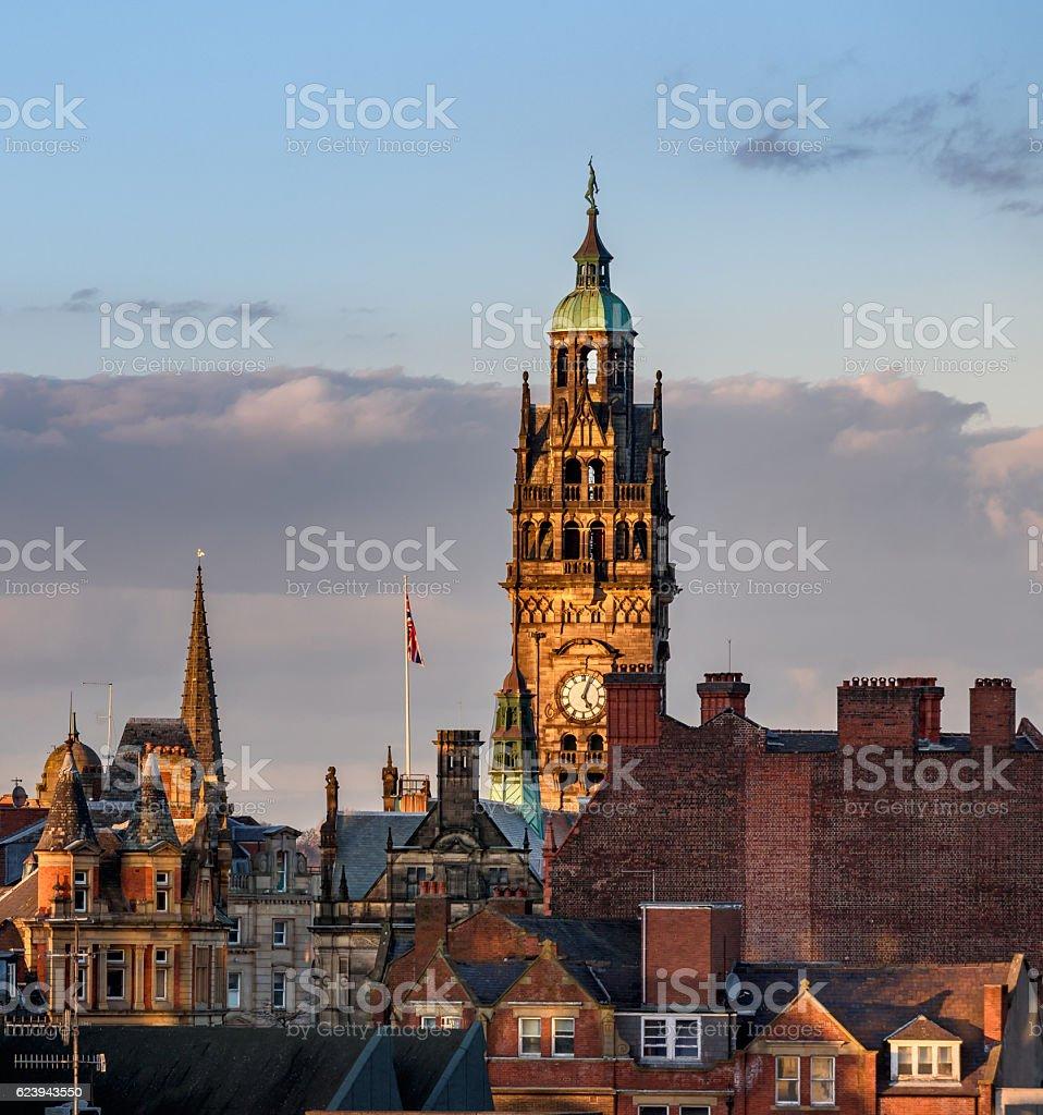 Sheffield Town Hall, Sheffield stock photo