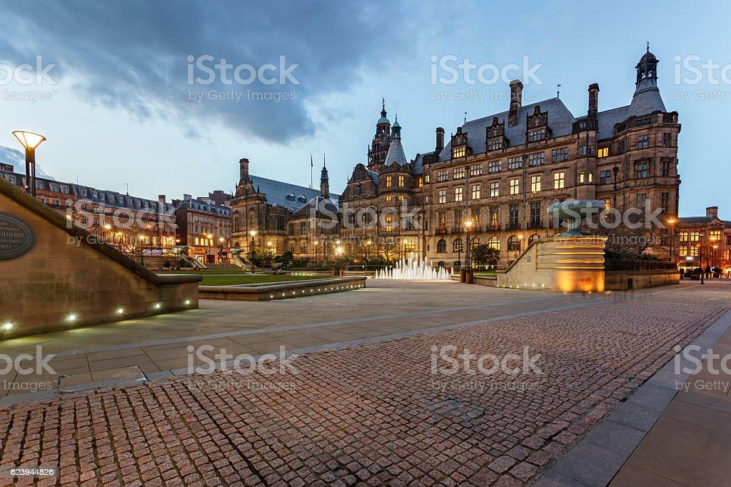 Sheffield Town Hall, Sheffield-England stock photo