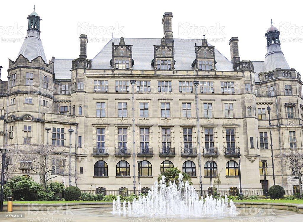Sheffield Town Hall, UK stock photo