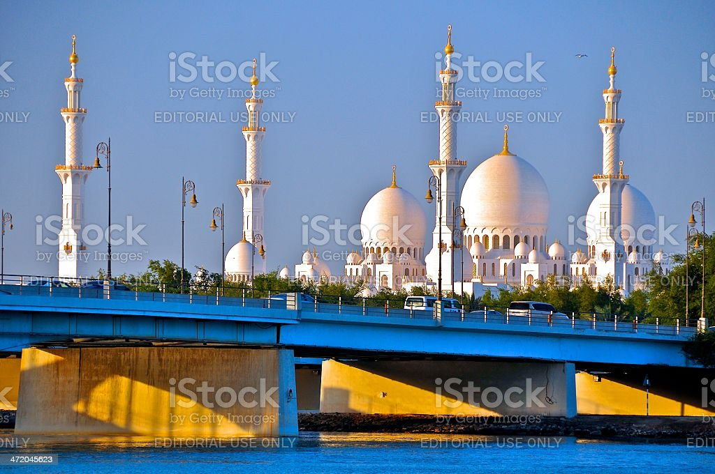 Sheik Zayed Grand Mosque, Abu Dhabi royalty-free stock photo