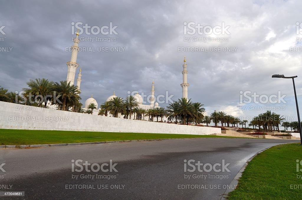 Sheik Zayed Grand Mosque, Abu Dhabi royalty-free stock photo