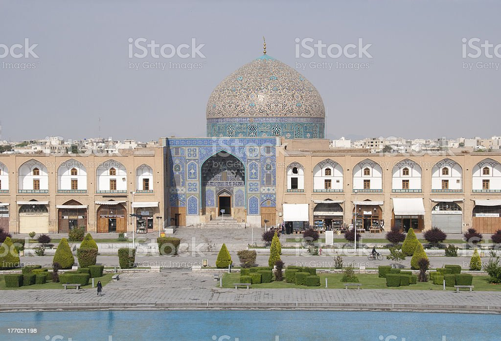 Sheikh Lotf Allah Mosque in Isfahan, Iran stock photo
