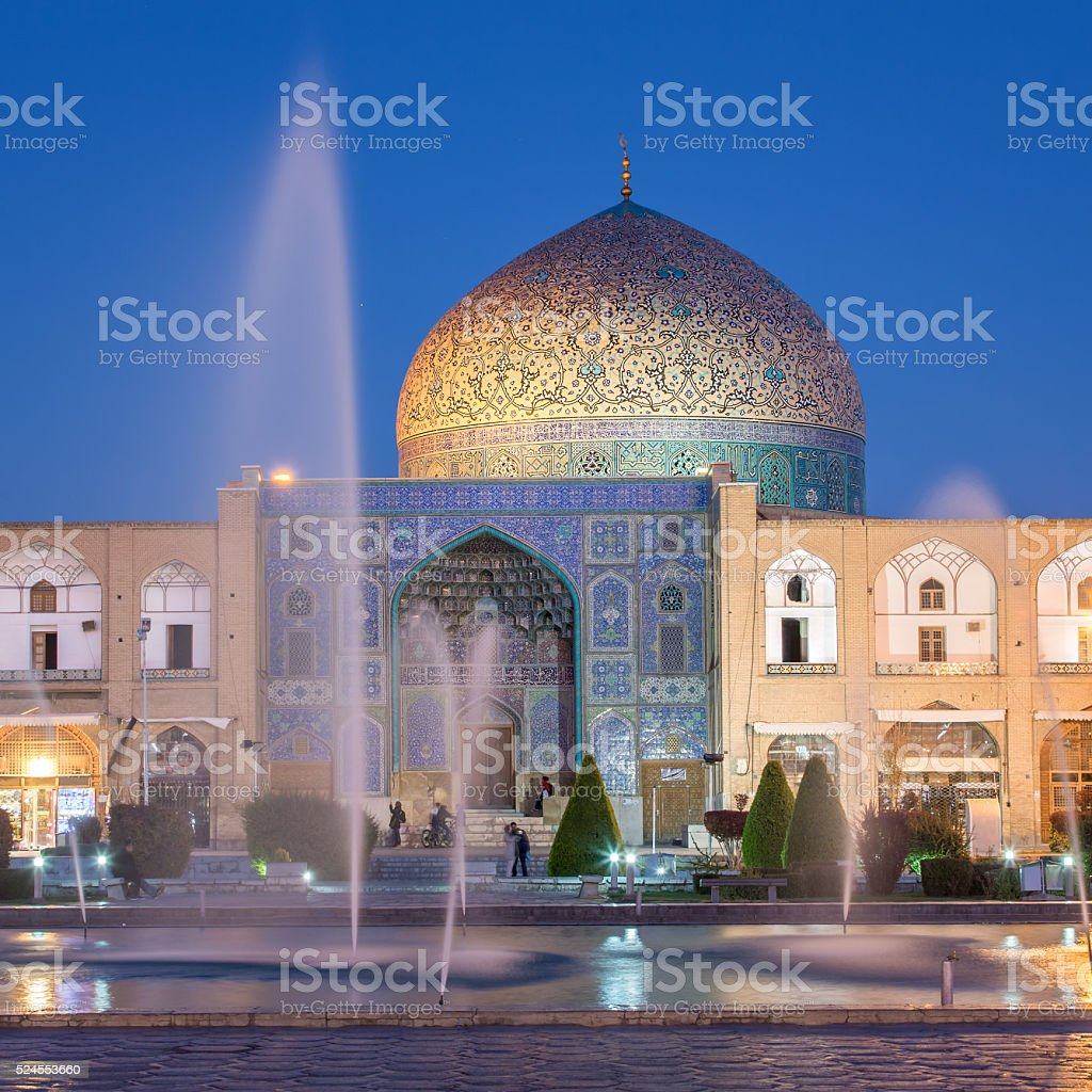 Sheikh Lotfollah Mosque at Naqhsh-e Jahan Square in Isfahan, Ira stock photo