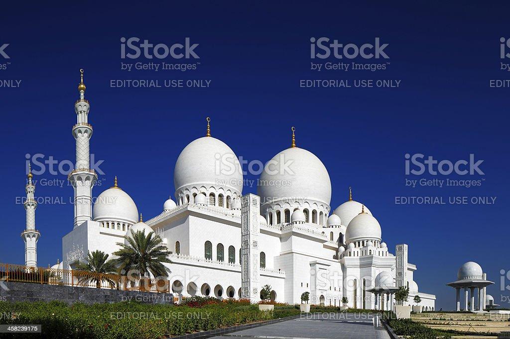 Sheikh Zayed Grand Mosque, Abu Dhabi, UAE stock photo
