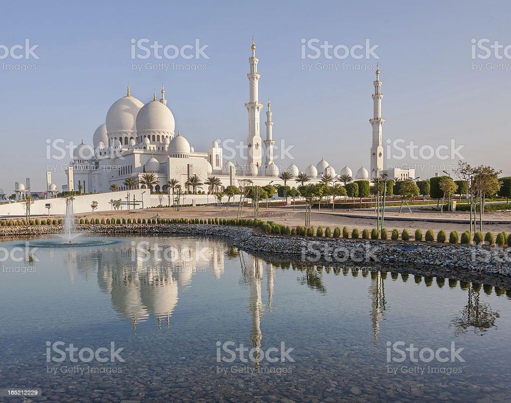Sheikh Zayed Grand Mosque in Abu Dhabi stock photo