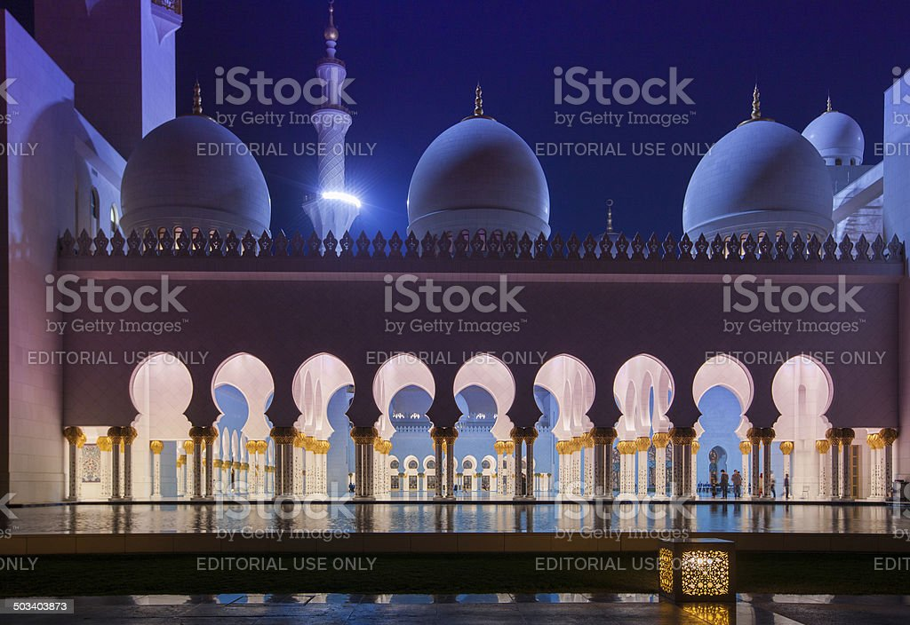 Sheikh Zayed Grand Mosque in Abu Dhabi royalty-free stock photo