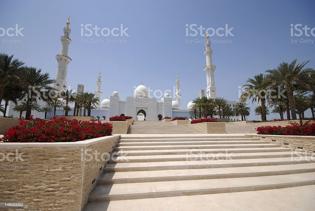 Sheikh Zayed Grand Mosque royalty-free stock photo