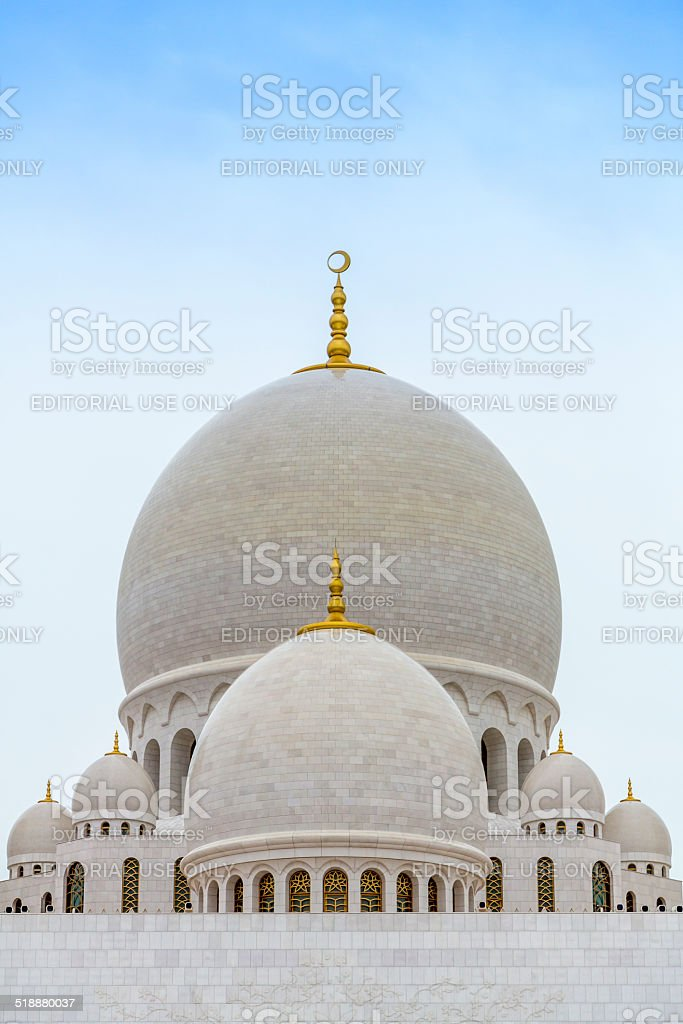 Sheikh Zayed Mosque exterior view , Abu Dhabi stock photo