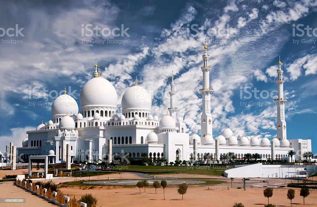 Sheikh Zayed mosque in Abu Dhabi stock photo