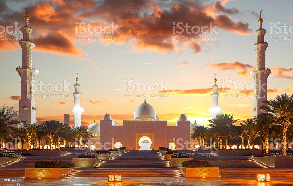 Sheikh Zayed mosque in Abu Dhabi, United Arab Emirates stock photo