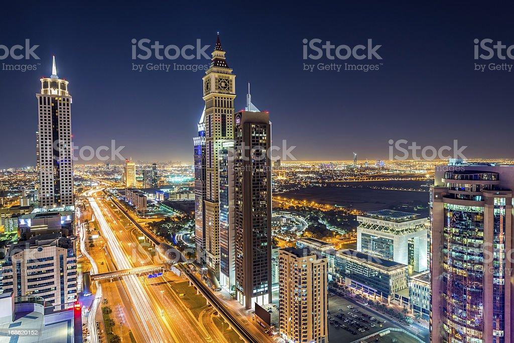 Sheikh Zayed Road Dubai United Arab Emirates royalty-free stock photo