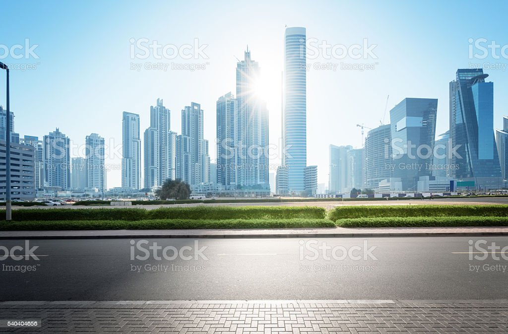 Sheikh Zayed road, United Arab Emirates stock photo