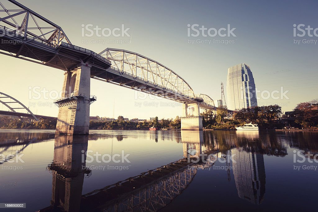 Shelby Avenue Bridge in Nashville stock photo