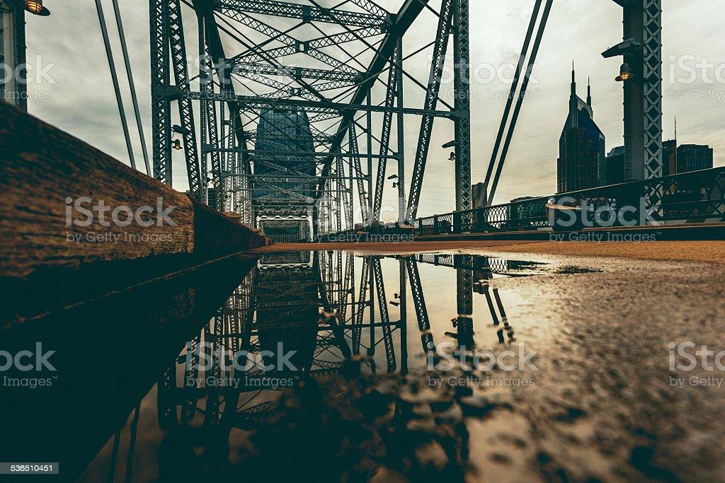 Shelby Avenue Bridge, Nashville, USA stock photo