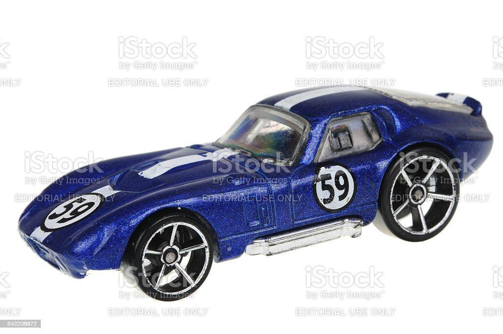 Shelby Cobra Concept Hot Wheels Diecast Toy Car stock photo