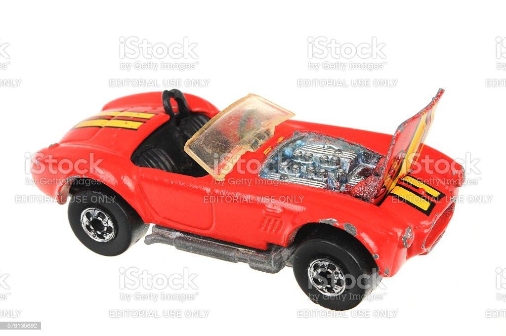1982 Shelby Cobra Hot Wheels Diecast Toy Car stock photo