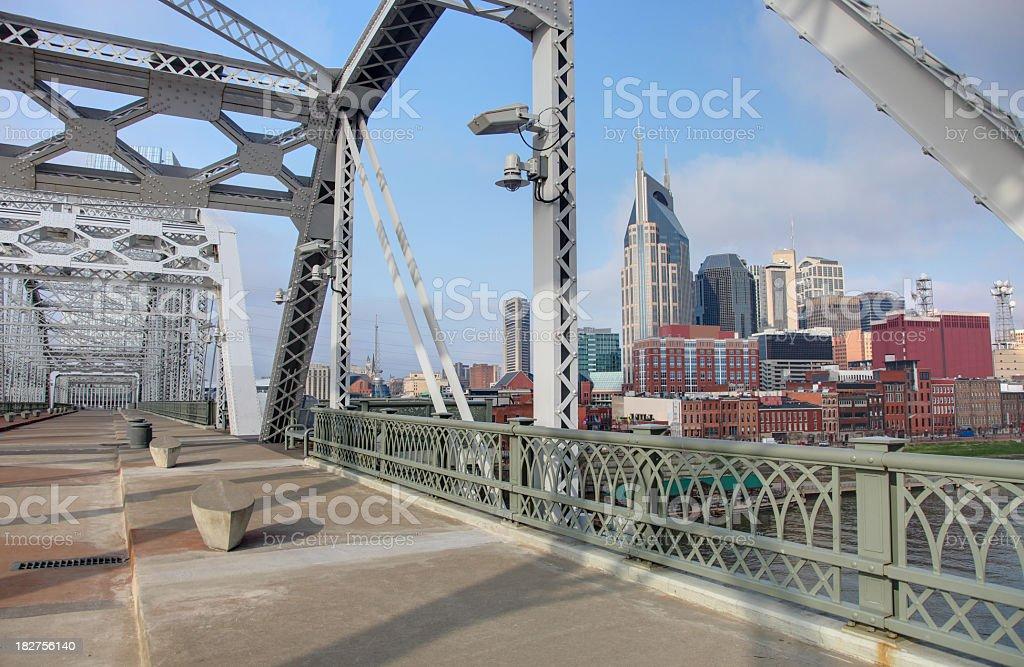 Shelby Street Bridge in Nashville stock photo