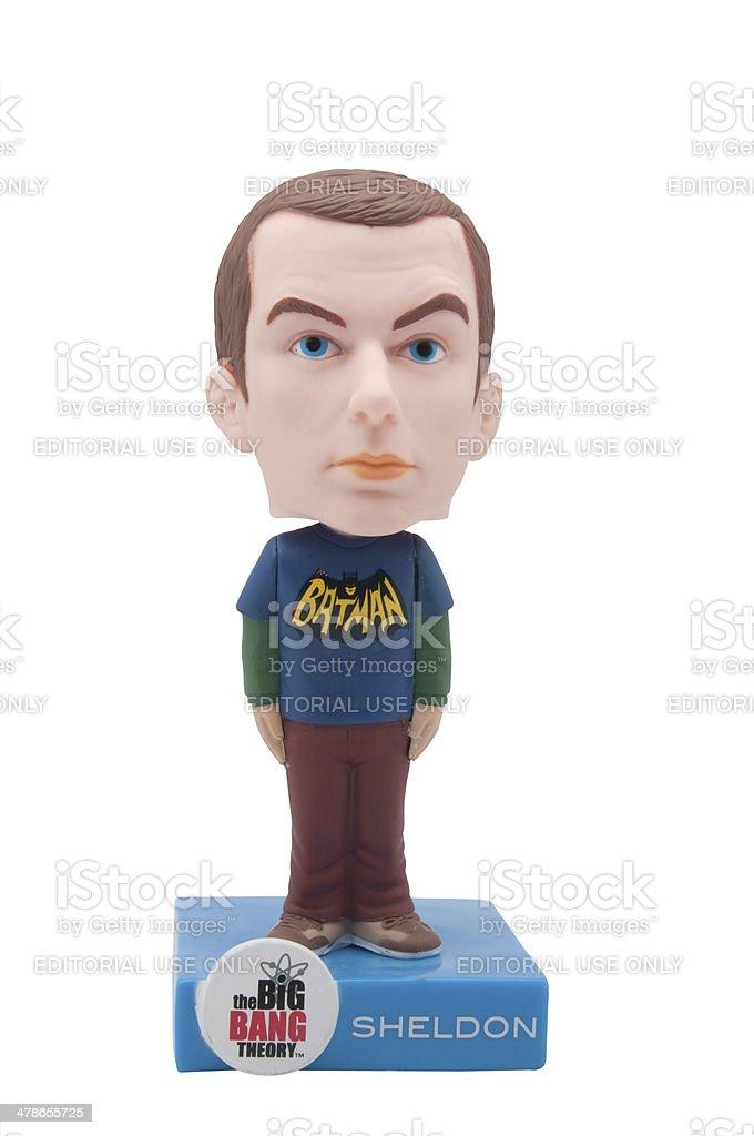 Sheldon Bobblehead stock photo